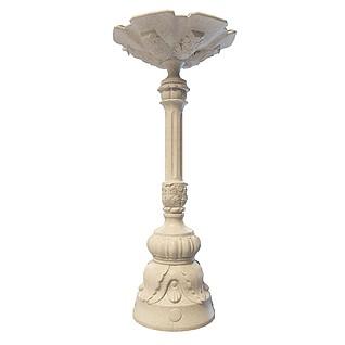 大雕花石柱3d模型