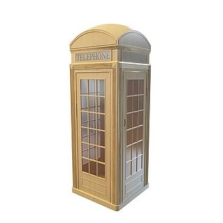 电话亭3d模型