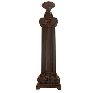 古典柱子3d模型
