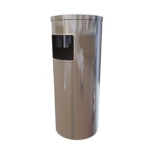 不锈钢垃圾桶3d模型