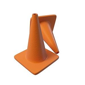 交通路錐3d模型
