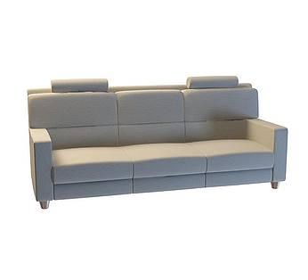灰色三人沙发