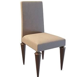布艺欧式<font class='myIsRed'>餐椅</font>3d模型