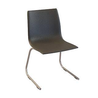 黑皮休闲椅3d模型