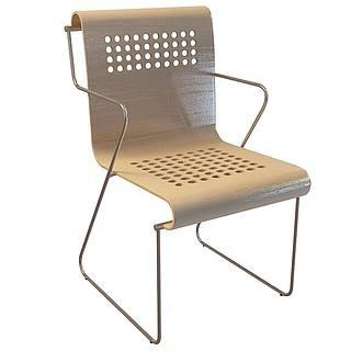 简约休闲椅3d模型