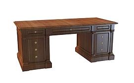 豪华欧式书桌3d模型