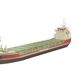 远洋货轮模型