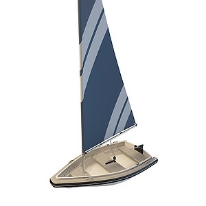 3d小<font class='myIsRed'>帆船</font>模型