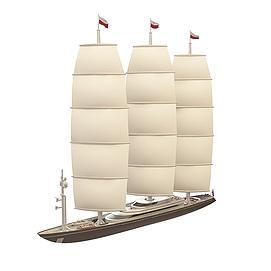3d现代<font class='myIsRed'>帆船</font>模型