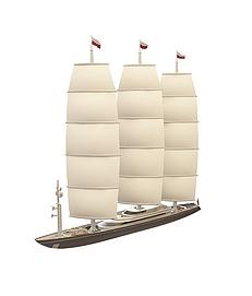 现代<font class='myIsRed'>帆船</font>3d模型