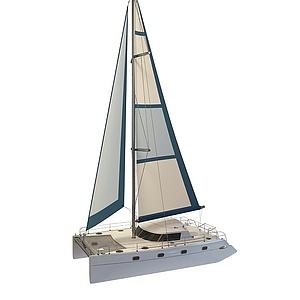 3d單人小<font class='myIsRed'>帆船</font>模型