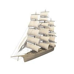 多帆帆船模型3d模型
