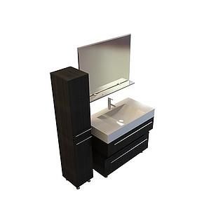 梳妆洗面台3d模型