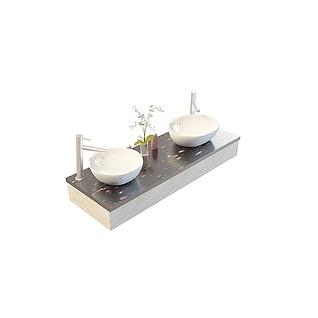 大理石洗手台3d模型