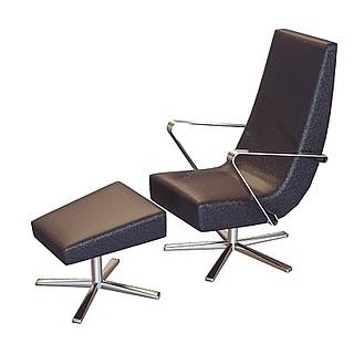 休闲椅和休闲凳3d模型