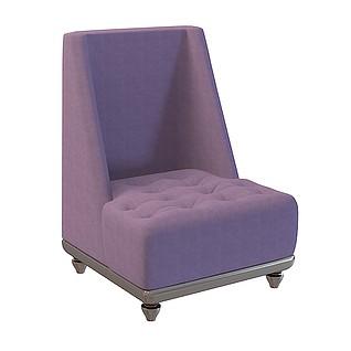 高背沙发椅3d模型