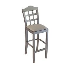 现代实木吧椅3D模型3d模型
