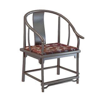 中式座椅3d模型图片