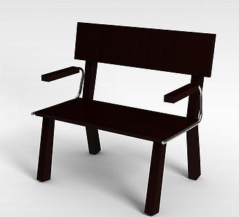 两人实木椅