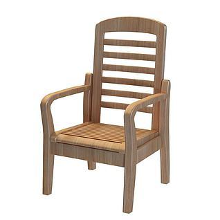 田园椅子3d模型