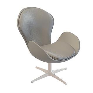 蛋形办公椅3d模型