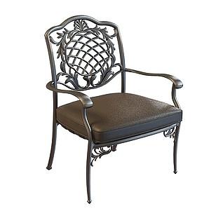 铁艺欧式扶手椅3d模型
