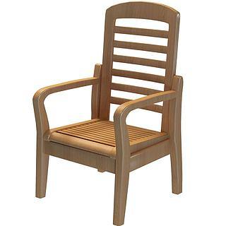 木质椅子3d模型