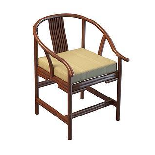 新中式圈椅3d模型