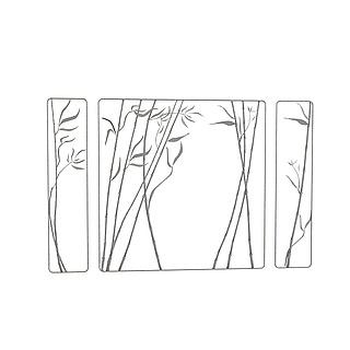 竹子镂空屏风3d模型