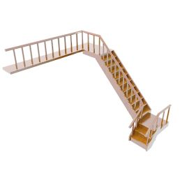 中式楼梯3d模型