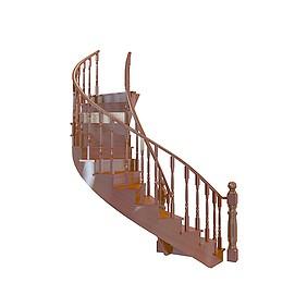 中式<font class='myIsRed'>旋转楼梯</font>3d模型
