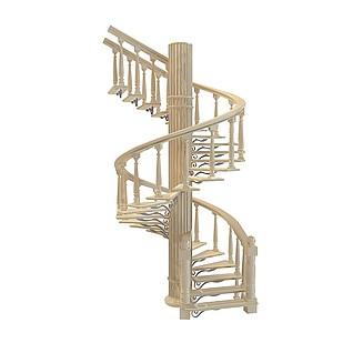 欧式旋转楼梯3d模型