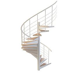 3d简易<font class='myIsRed'>旋转楼梯</font>模型