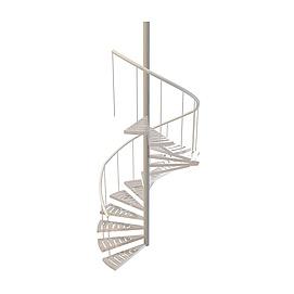 3d铁艺<font class='myIsRed'>旋转楼梯</font>模型