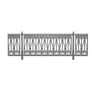 欧式铁艺栏杆3d模型