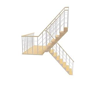 现代镂空楼梯3d模型
