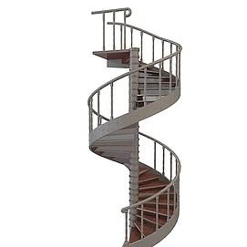 3d<font class='myIsRed'>旋转楼梯</font>模型