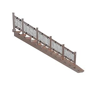 3d中式楼梯模型