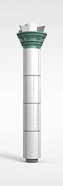金属柱子3d模型