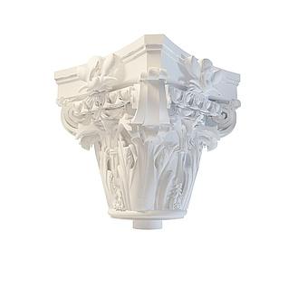 方形柱头3d模型