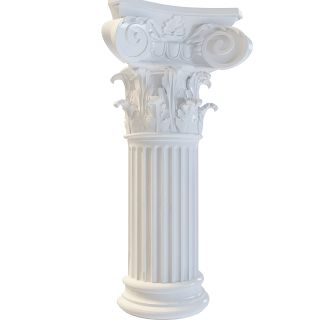 欧式浮雕柱子3d模型