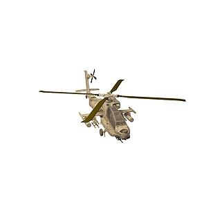 阿帕奇战斗机3d模型