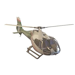 3d私人直升飛機模型