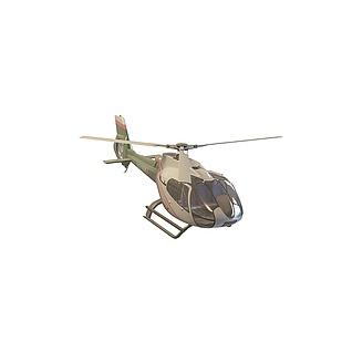 私人直升飞机3d模型