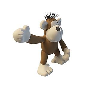 玩具猴子3d模型