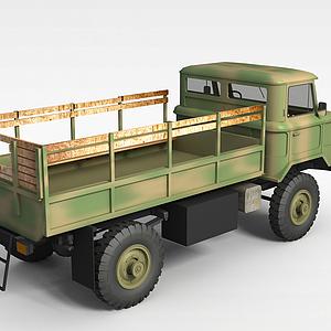 3d軍隊運輸車模型