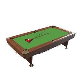 台球桌带杆3d模型
