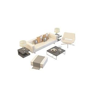 时尚沙发茶几3d模型