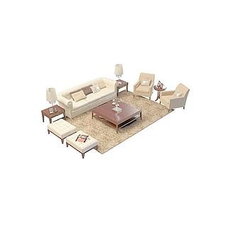客厅沙发套件3d模型