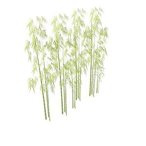 青色竹子模型